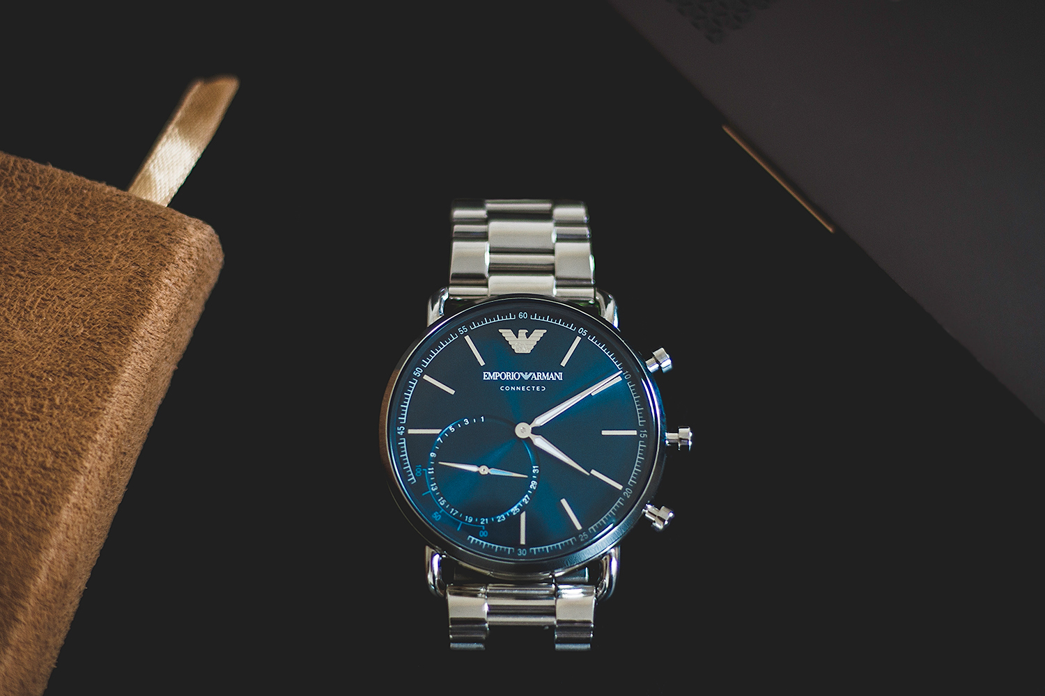 armani watch product commercial photography