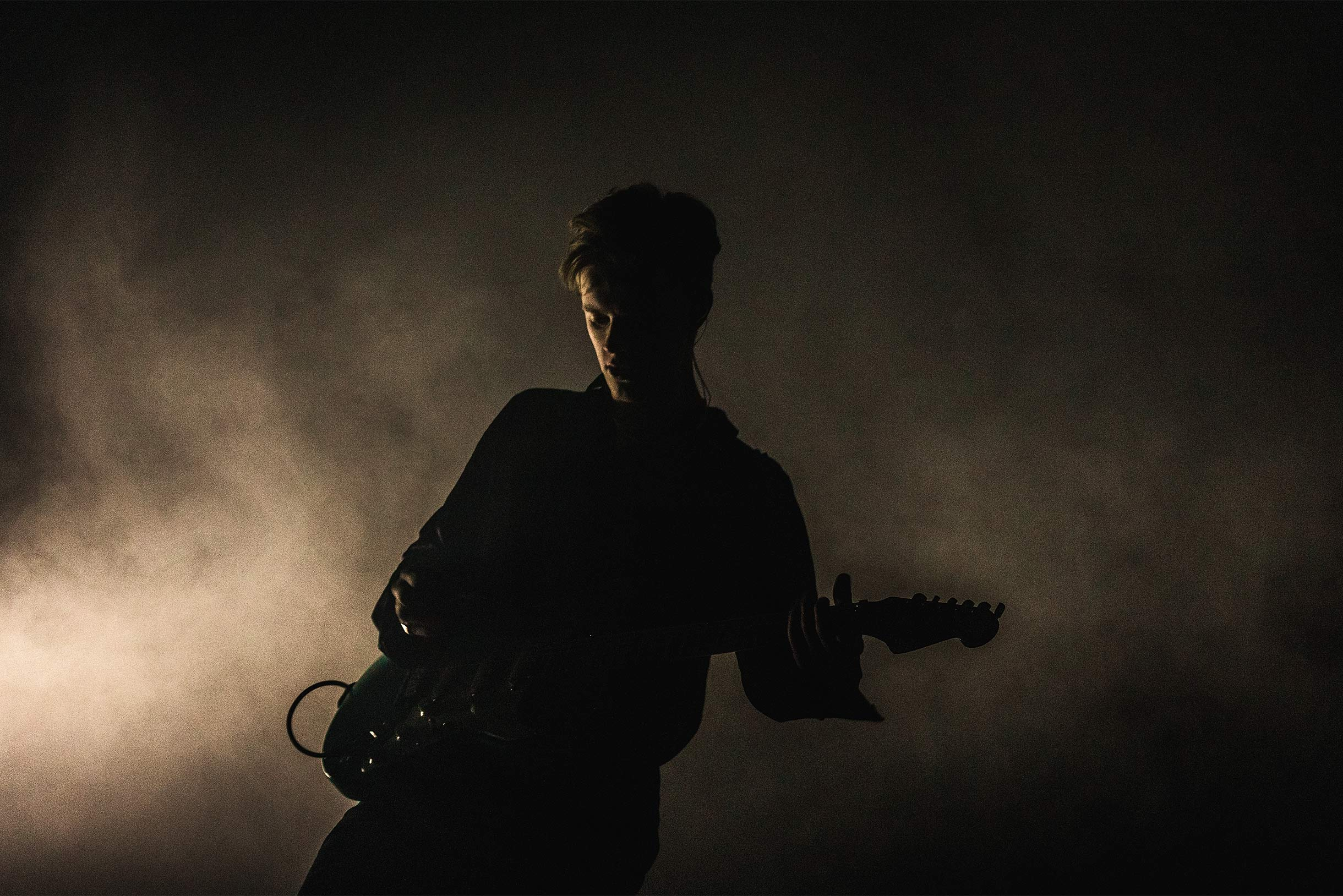 pale waves guitarist silhouette