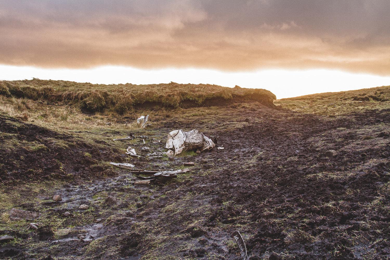 higher shelf stones plane crash peak district landscape photography