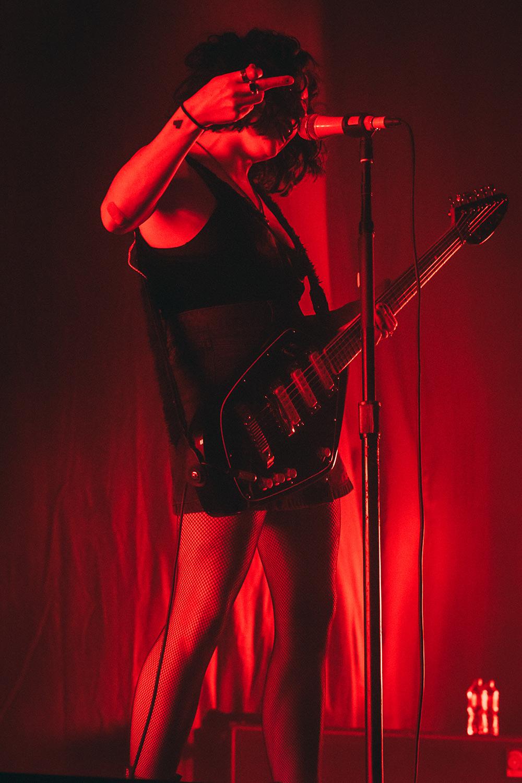 pale waves Heather Baron Gracie performing at arena birmingham